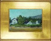 Original oil painting on wood panel.