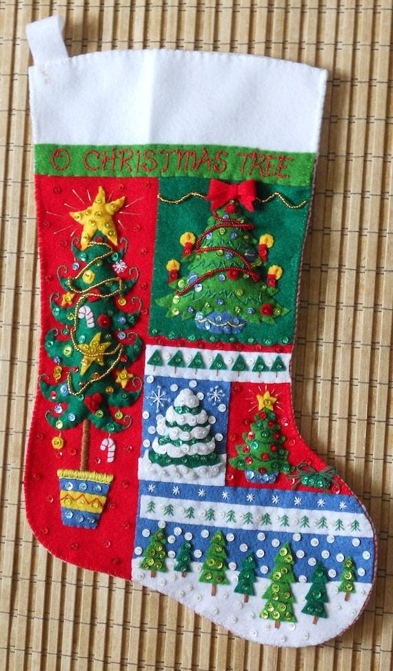Bucilla Christmas Stocking O Christmas Tree