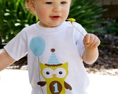 Hoot Hoot Boy's Birthday Owl Tee