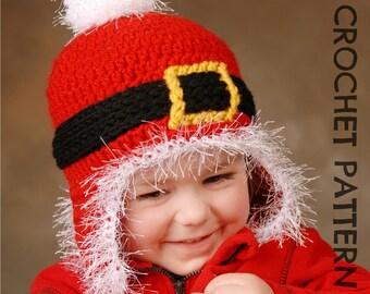 CROCHET HAT PATTERN Santa Ski Beanie Adults and Kids
