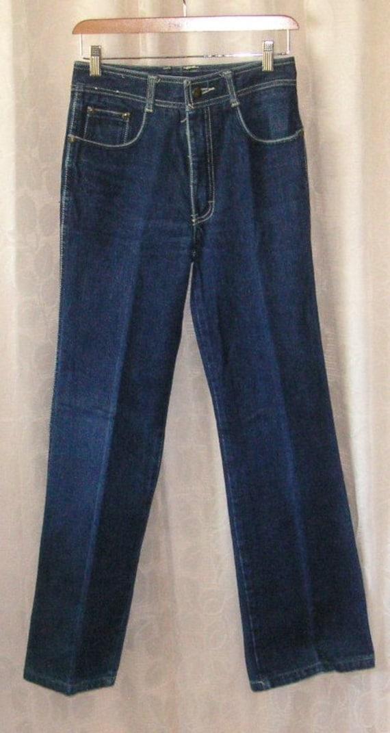 MENS JORDACHE blue 5 pocket jeans Waist 28 Inseam 30 1/2