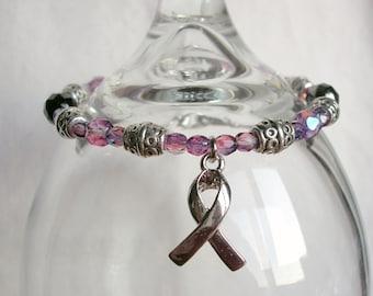 Purple/Lavender Support Cancer Warriors Charm Bracelet (General)