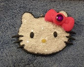 Super cute Hello Kitty inspired Glittery polymer clay Charm