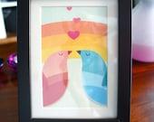 Love Birds / 5 x 7 PRINT