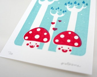 The Twins / Gocco Print