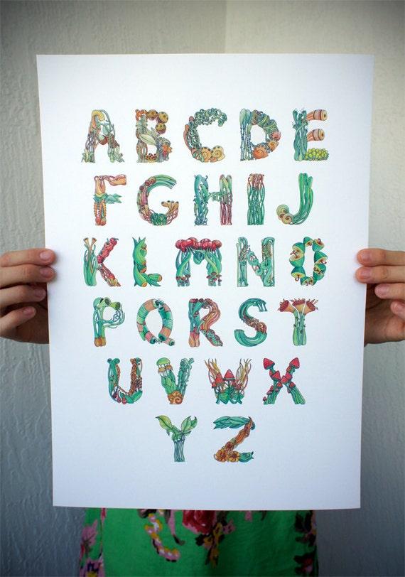 ORGANIC ABC / Mini Poster