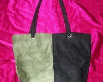 Vintage Sueded Grommet Bag