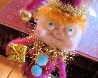 Edward Elf Needle felted wool
