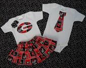 Boys Georgia Bulldogs Logo Style or Neck Tie Style Onesie or Shirt