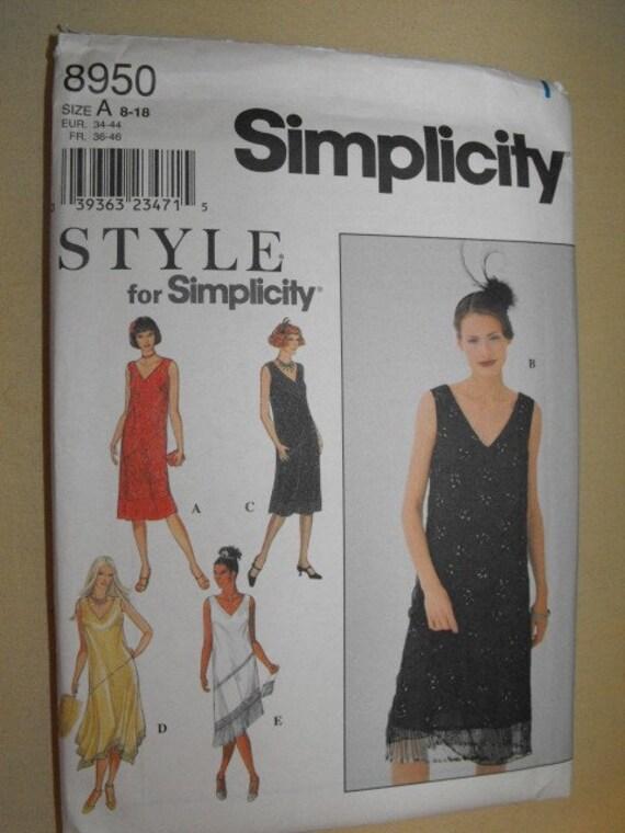 Simplicity Flapper Style Dress Pattern 8950