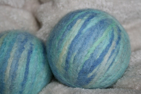 2 pack WOOLY MAMMOTH DRYER BALLS, the LARGEST dryer balls, BLUEBERRY