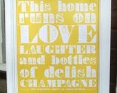 Champagne Poster (Light Tangerine)