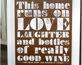 Good Wine Poster (brown)