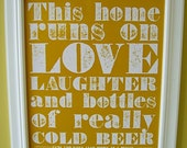 Cold Beer Poster (yellow)