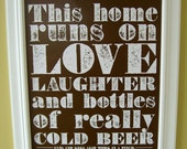 Cold Beer Poster (brown)