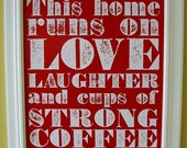 Strong Coffee Poster (red)