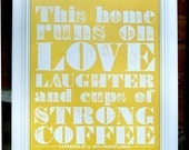 Strong Coffee Poster (light tangerine)