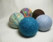 Set of 5 LARGE 100% Wool dryer balls You choose colors
