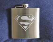 Etched 6oz Stainless Flask  by Jackglass on Etsy