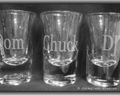 Etched Whiskey Shot Glass by Jackglass on Etsy