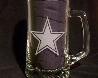 Custom Etched 24 oz  Beer Mug by Jackglass on Etsy