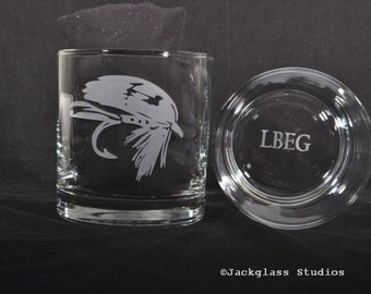 Etched Glass Personalized Fishing Lure Rocks Glasses forthe Man Cave, Manly Man, Outdoorsman, Lumberjack by Jackglass on Etsy