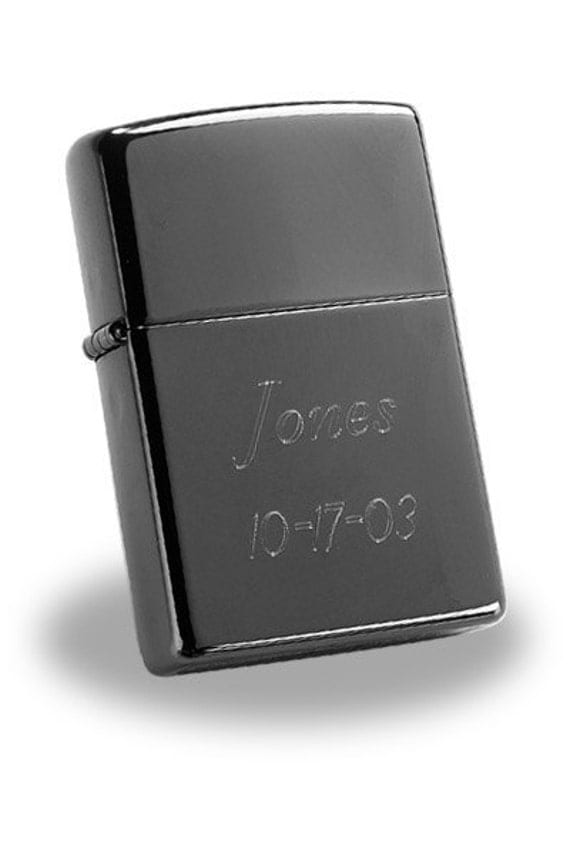 Engraved Black Ice Zippo Lighter by Jackglass on Etsy