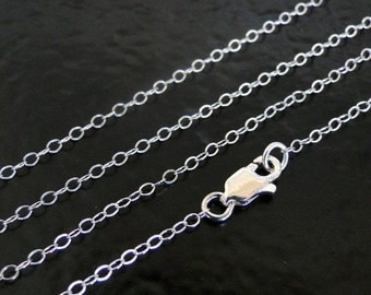 17 Inch .925 Sterling Silver Cable Chain Necklace - Custom Lengths Available