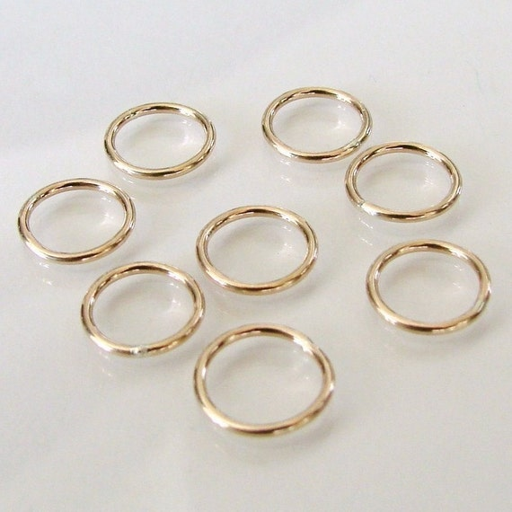 4 Pcs 10mm Circle Link, Connector 14K Gold Filled, Made in USA