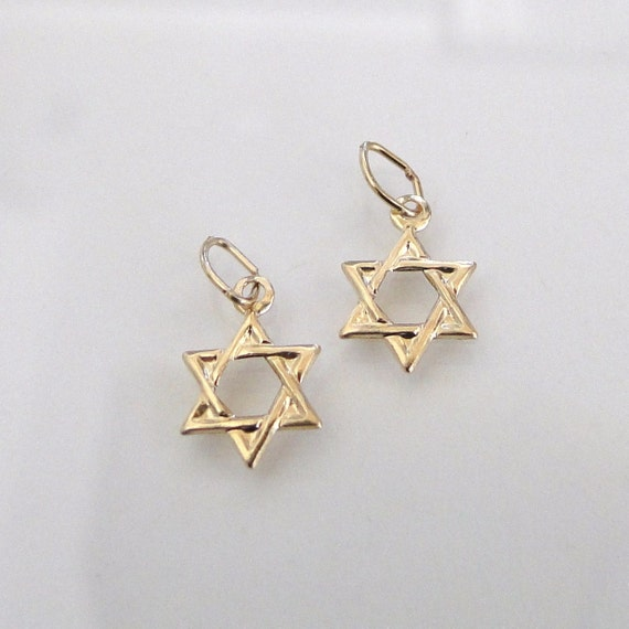 2 Pcs. - 14K Gold Filled Star of David Charms 8x8mm