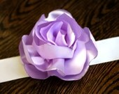 Blooming Sash Belt in Lavender (on black or white ribbon)