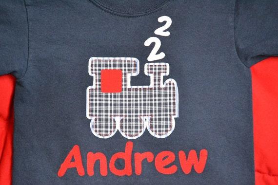 Personalized Happy Birthday Train Shirt