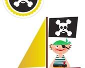 Pirates Sailing the Seven Seas (iron on patch) Printable PDF