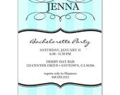 Digital File - Bachelorette Party or Bridal shower invites //you can change the colors// - Jenna design