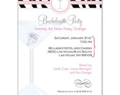 Digital File - Bachelorette Party or Bridal shower invites //you can change the colors// - Kasey design