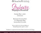 Digital File - Bridal shower invites //you can change the colors// - Stephanie design
