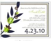 Digital File - Bridal shower invites //you can change the colors// - Amanda design
