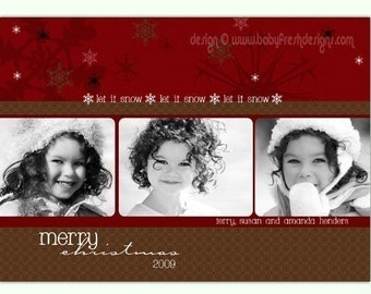 Instant Download - Photoshop PSD layered Templates for Photographers - Holiday card - Henders Design (from the Mistletoe set)
