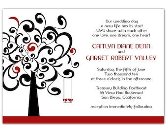 Lovebirds Wedding Invitation • Lovebirds Bridal Shower Invitation • PRINTED on CARDSTOCK