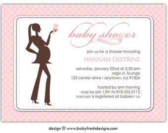 Baby Shower Invitation //you can change the colors// Hannah design