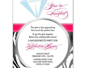 Bachelorette Party or Bridal shower invites //you can change the colors// - Rebecca design
