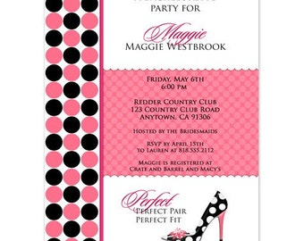 Digital File - Bachelorette Party or Bridal shower invites //you can change the colors// - Maggie design