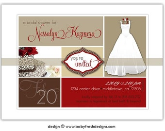 Digital File - Bridal shower invites //you can change the colors// - Nessalyn design