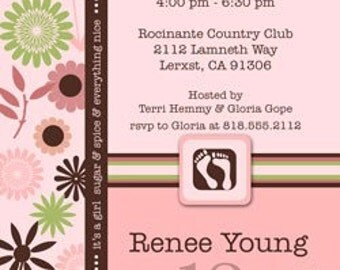 Digital File - Baby Shower Invitation //you can change the colors// Renee design