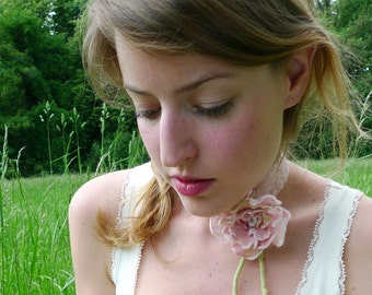 Bridal Rose Necklace/ Bracelet/ Brooch
