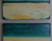 Abstract Painting - ORIGINAL painting - Acrylic - Modern Contemporary Fine Art  16X32