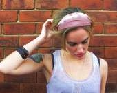 Mulled Rose Pink Silk Headband - Womens Organic Spring Summer Beach Accessory - Naturally Dyed - Ready To Ship