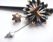Artificial Love - Steampunk Kanzashi style hair stick -