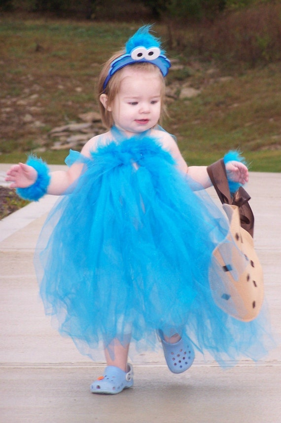 how to make a cookie monster tutu