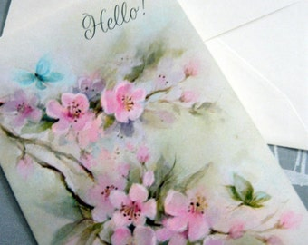 Vintage Hallmark Hello .Fell Better. Card from the 70s with original envelope